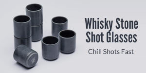 Whisky Stone Shot Glasses.  Chill Shots Fast.
